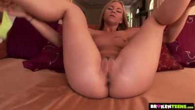 BrokenTeens - First porn shoot reveals a shameless young slut