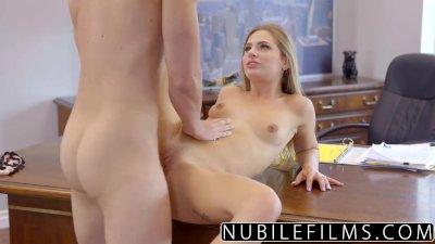 Cock Riding Assistant Sydney Cole Fucks Boss on Desk