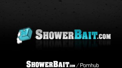 ShowerBait Str8 flexible Tryp Bates shower fucked by Mason Lear