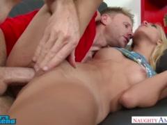 Uma Jolie fucks her friend\'s brother near stripper pole - Naughty America