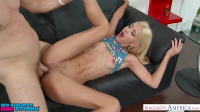 Uma Jolie fucks her friend\'s brother near stripper pole - Naughty America