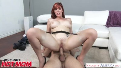 Big tits redheaded MILF Lauren Philips bangs a big dick - Naughty America