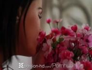 Passion-HD - Petite Brunette Megan Rain Rides Reverse Cowboy Style