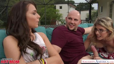 Cory Chase and Kharlie Stone in a stepmom threesome - Naughty America